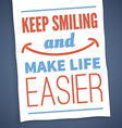 Motivational poster - smile vector image vector image
