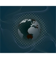 abstract background with planet vector image vector image