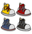 Funny color sneakers vector image