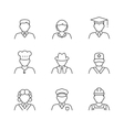 People avatars set vector image