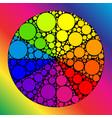 color wheel or color circle vector image