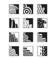 Different building surfaces vector image