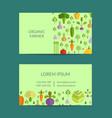 flat vegetables organic farm vegan vector image
