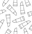 Lipstick liner black seamless pattern vector image