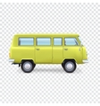 Minibus on transparent background vector image