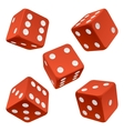 red dice set vector image