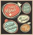 Retro restaurant menu template vector image