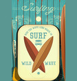 retro surfing poster vector image