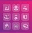 security line icons set vector image