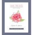 Watercolor wedding card vector image