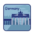 with Brandenburg Gate in Berlin vector image