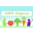 cartoon vegetables with sign Organic vector image vector image