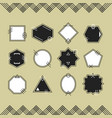 trendy black and white line blank emblems set vector image vector image