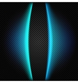 Metallic background with carbon texture and lines vector image vector image