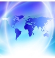 World map on a blue background vector image