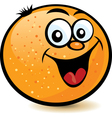 happy orange character vector image vector image