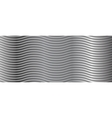 Abstract metallic wavy stripes background vector image vector image