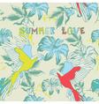 Summer floral love Background vector image