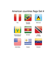 American countries flags Set 4 vector image