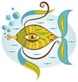 Cartoon sea fish vector image