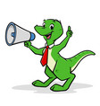 cartoon shouting dino vector image