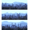 Cityscape arab city banners vector image