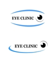 icon of eye clinic vector image