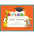 Primary School Kids Diploma certificate vector image