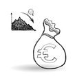 sketch icon money concept Flat illiustration vector image