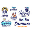 text letters for summer time handwriting vector image