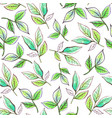 watercolor pattern leaves vector image