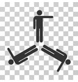 pointing men icon vector image
