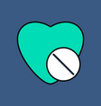 flat icon design collection heart with medical vector image