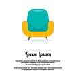 Vintage Colorful Sofa vector image