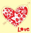 love shape heart vector image vector image