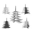 asian pagoda or buddhist house set vector image