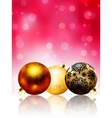 Beautiful red happy Christmas card EPS 8 vector image