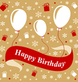 birthday gold red vector image