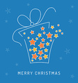 Christmas card gift vector image