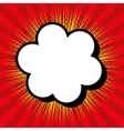 cloud comic speech design vector image