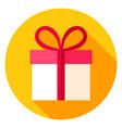 gift box circle icon vector image