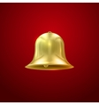 Golden bell Holiday vector image