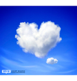 Heart shaped cloud vector image