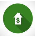 House and dollar vector image