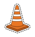 Isolated traffic cone design vector image