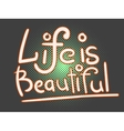 Life is beautiful lettering vector image