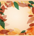 light background with autumn leaves vector image