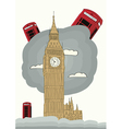 london with big ben vector image