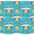 seamless pattern with quadrocopters or drones vector image