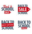 set of back to school logo or emblem sale and vector image